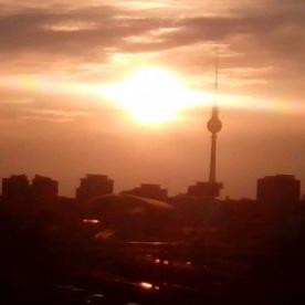Alexander-platz sunset