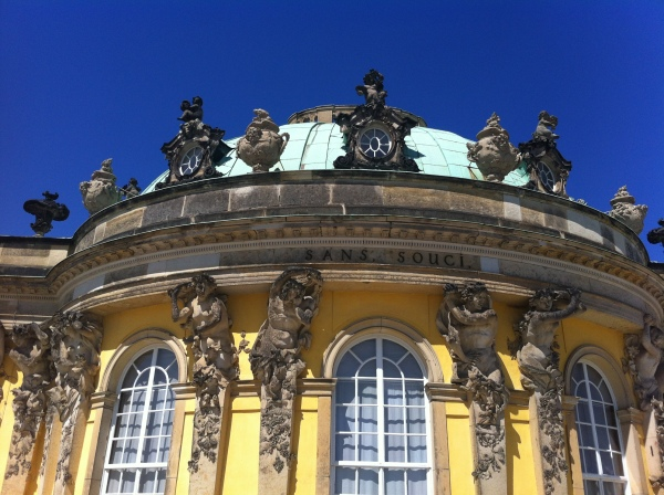 Detail on the palace