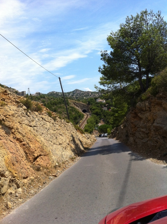 The hilly and windy roads of Cassis